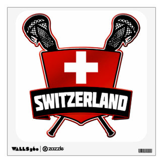 Switzerland Lacrosse Logo Wall Decal
