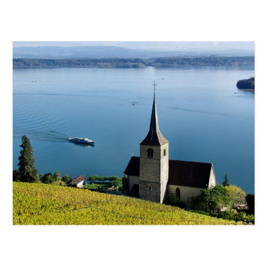 Switzerland Lake Biel Postcard