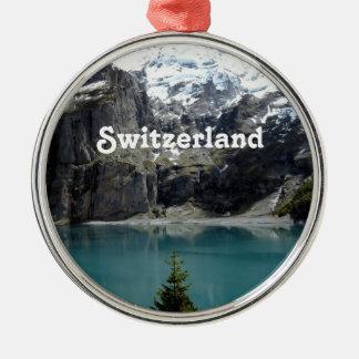 Switzerland Landscape Metal Ornament