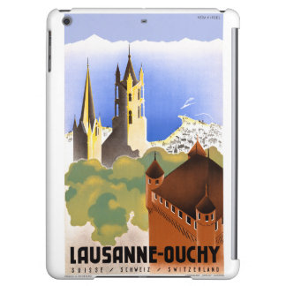Switzerland Lausanne Ouchy Vintage Travel Poster Case For iPad Air