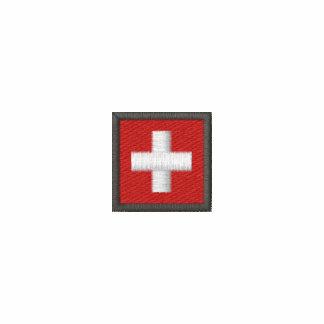 Switzerland Long Sleeve T Shirt With Swiss Flag