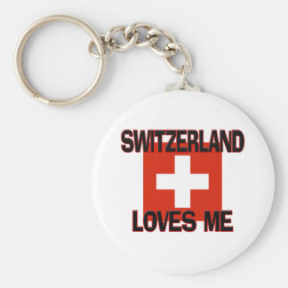 Switzerland Loves Me Keychain