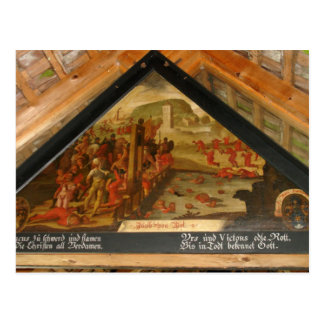 Switzerland, Lucerne, Chapel Bridge paintings Post Card