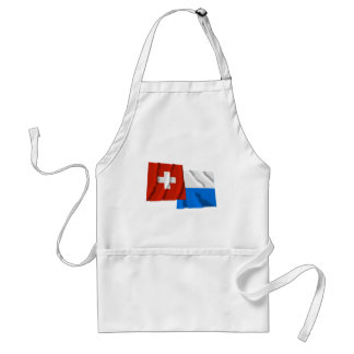 Switzerland & Lucerne Waving Flags Aprons