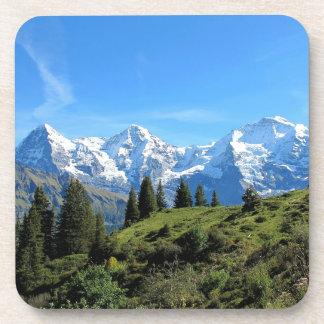 Switzerland Majestic Beautiful Mountains Drink Coasters