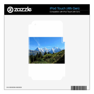 Switzerland Majestic Beautiful Mountains Decals For iPod Touch 4G