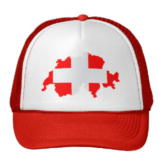 Switzerland map and flag - Hat