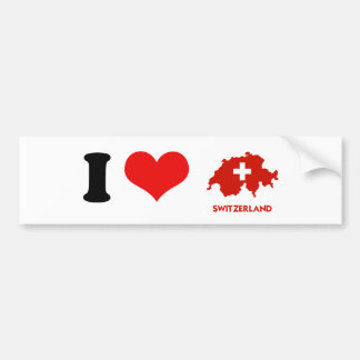 SWITZERLAND MAP BUMPER STICKER