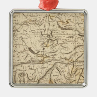 Switzerland Map by Arrowsmith Square Metal Christmas Ornament