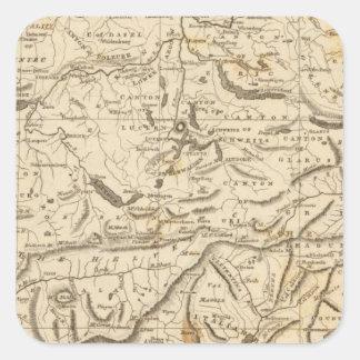 Switzerland Map by Arrowsmith Square Sticker