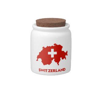 SWITZERLAND MAP CANDY JARS