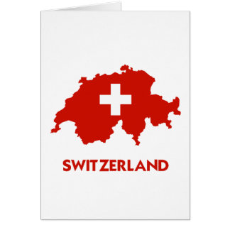 SWITZERLAND MAP CARD