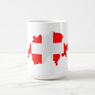 Switzerland map flag coffee mug