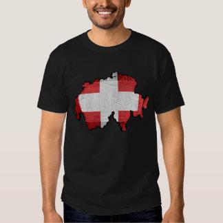 Switzerland Map Flag T Shirt