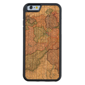 Switzerland Map iPhone 6 Cherry Wood Case Carved® Cherry iPhone 6 Bumper Case