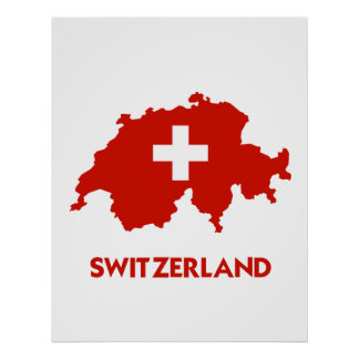 SWITZERLAND MAP PRINT