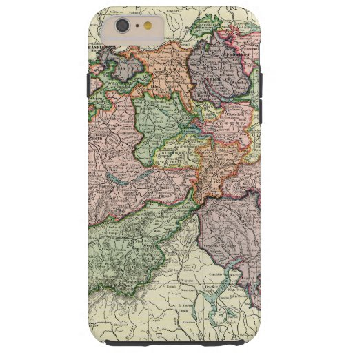 Switzerland Map Vintage iPhone 6 Plus Tough Case