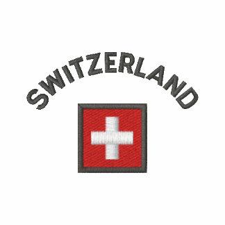 Switzerland Mens Polo With Swiss Pocket Flag