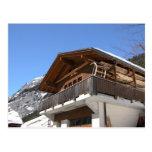 Switzerland, Modern mountain chalet Post Card