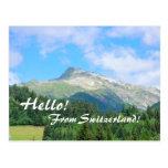 Switzerland Mountains Postcard