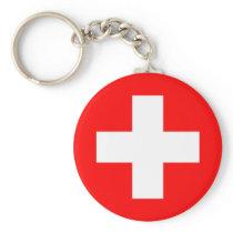 Switzerland National World Flag Keychain
