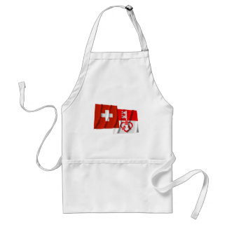 Switzerland & Obwalden Waving Flags Aprons