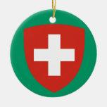 SWITZERLAND*- ornamento del navidad Adorno Navideño Redondo De Cerámica
