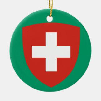 SWITZERLAND*- ornamento del navidad Adorno Redondo De Cerámica