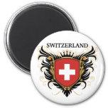 Switzerland [personalize] refrigerator magnet