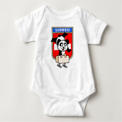 Baby Jersey Bodysuit with Swiss Pommel Horse Panda design