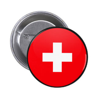 Switzerland quality Flag Circle Button