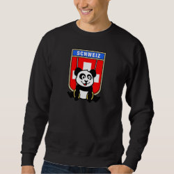Men's Basic Sweatshirt with Swiss Rings Panda design
