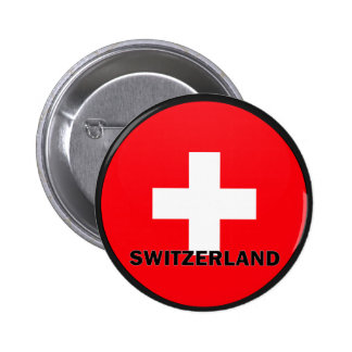 Switzerland Roundel quality Flag 2 Inch Round Button