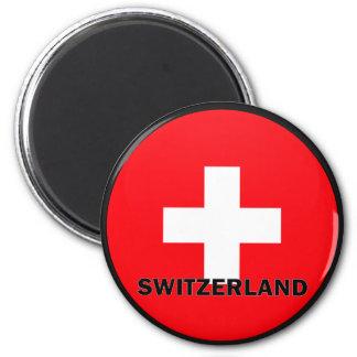 Switzerland Roundel quality Flag Magnet