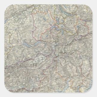 Switzerland, Savoy, Piedmont Square Sticker