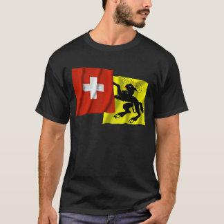 Switzerland & Schaffhausen Waving Flags T-Shirt
