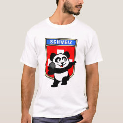 Men's Basic T-Shirt with Swiss Shot Put Panda design