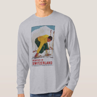 Switzerland Ski Vintage Travel Poster Shirt