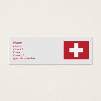 Switzerland - Skinny Mini Business Card
