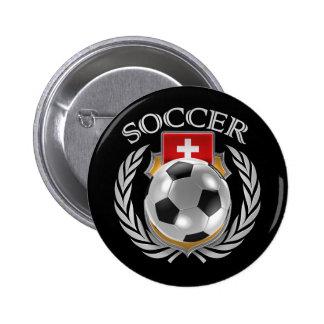 Switzerland Soccer 2016 Fan Gear Button