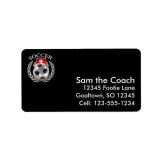 Switzerland Soccer 2016 Fan Gear Label