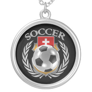 Switzerland Soccer 2016 Fan Gear Silver Plated Necklace