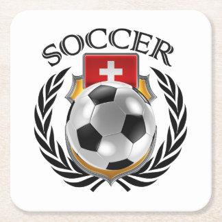 Switzerland Soccer 2016 Fan Gear Square Paper Coaster