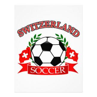 Switzerland soccer ball designs letterhead