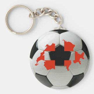 Switzerland soccer basic round button keychain