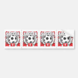 Switzerland Soccer Bumper Sticker