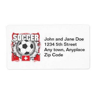 Switzerland Soccer Label