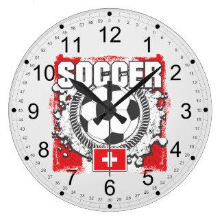 Switzerland Soccer Large Clock