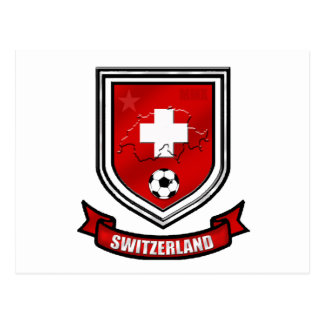 Switzerland soccer shield Swiss Crest Presents Post Cards
