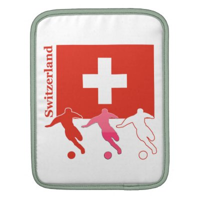 Switzerland Soccer Sleeves For iPads